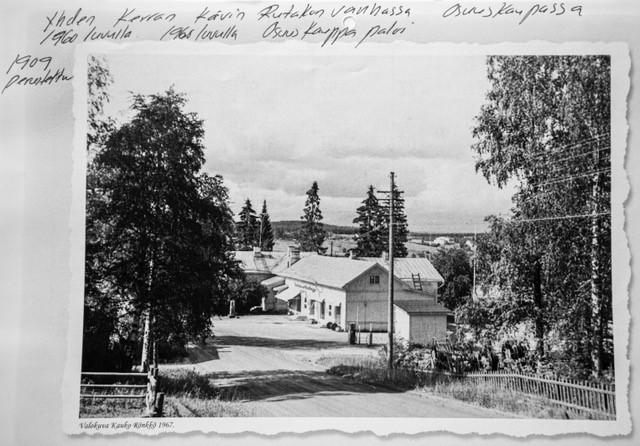 Sonkajärven Osuuskaupan päämyymälä 1960-luvulla ennen tuhoisaa tulipaloa.