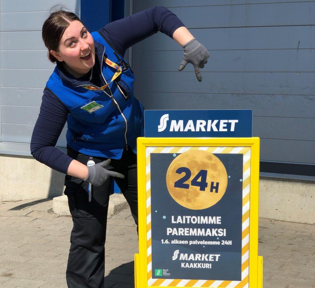 Kolme S-markettia aloittaa palvelemaan asiakkaita 24/7