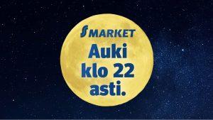 S-marketit avoinna 22 asti