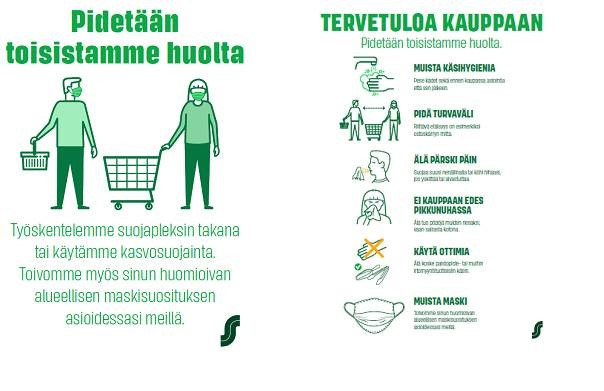 Tervetuloa kauppaa -juliste 30.9.2020