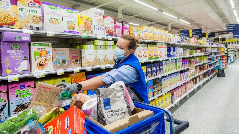 S-market Ääneskoski ja ruoan verkkokaupan keräily