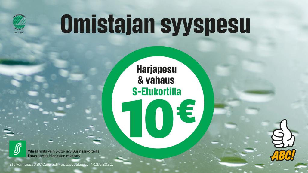 Omistajan syyspesu vain 10€